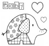 Woodware - Baby Patch Elephant - Clear Magic Stamp Set - FRS118